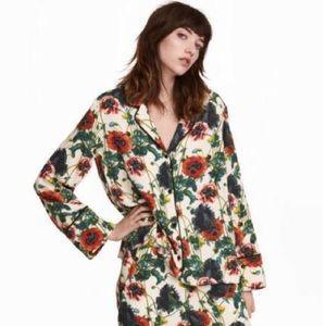 H&M Floral Pajama Shirt